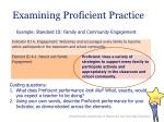 examining proficient practice