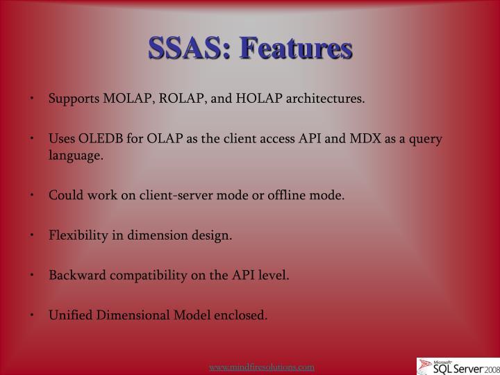 Ssas features