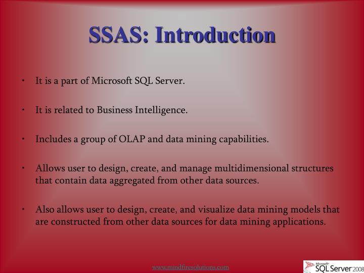 Ssas introduction