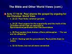 the bible and other world views cont