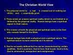 the christian world view
