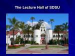 the lecture hall of sdsu
