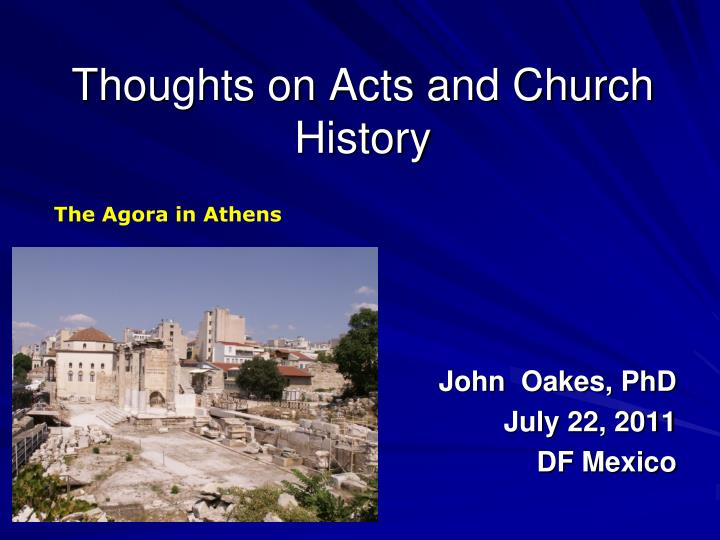 thoughts on acts and church history n.