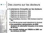 des zooms sur les docteurs