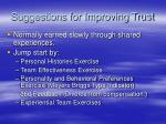 suggestions for improving trust