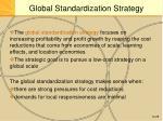 global standardization strategy