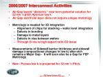 2006 2007 interconnect activities
