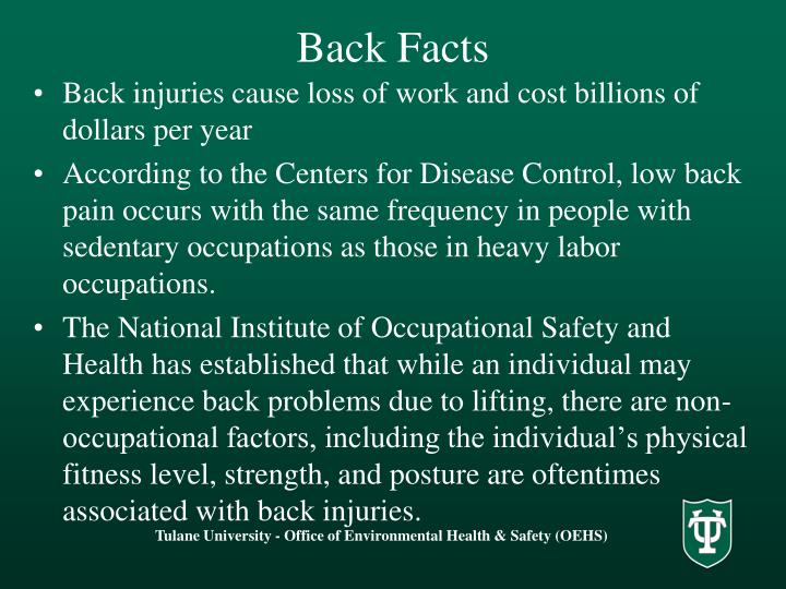 Back Facts