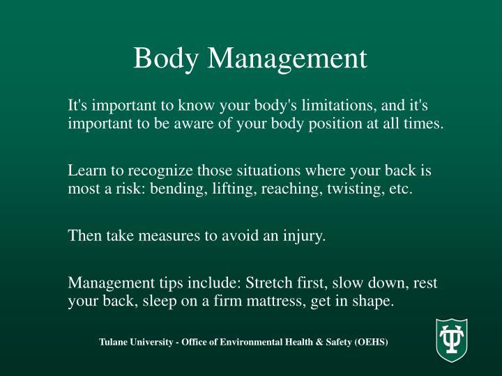 Body Management