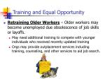 training and equal opportunity4