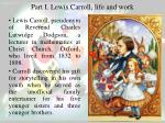 part i lewis carroll life and work