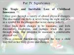 part i v significance