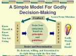 a simple model for godly decision making1