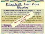 principle 4 learn from mistakes