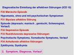 diagnostische einteilung der affektiven st rungen icd 10