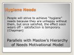 hygiene needs