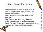 limitation of studies