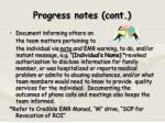 progress notes cont2