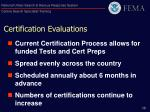certification evaluations
