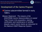development of the canine program1
