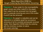 new algorithm dom for graph coloring by domination covering2