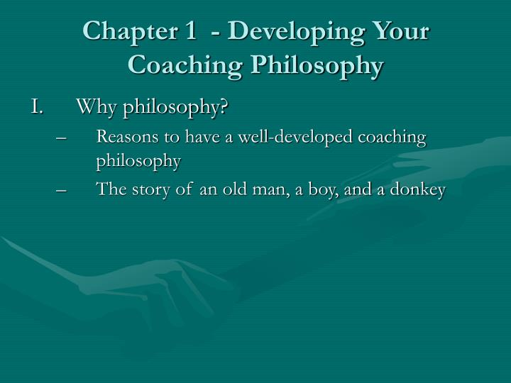 chapter 1 developing your coaching philosophy n.