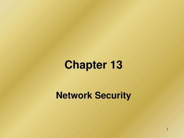 chapter 13 network security n.