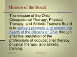 mission of the board