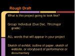 rough draft