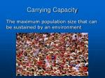 carrying capacity1
