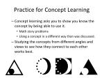 practice for concept learning
