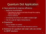 quantum dot application