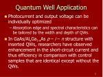 quantum well application