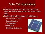 solar cell applications
