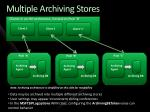 multiple archiving stores