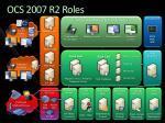 ocs 2007 r2 roles