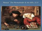 massys the moneylender his wife 1514