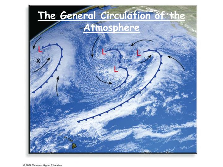 the general circulation of the atmosphere n.