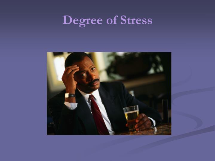 Degree of Stress