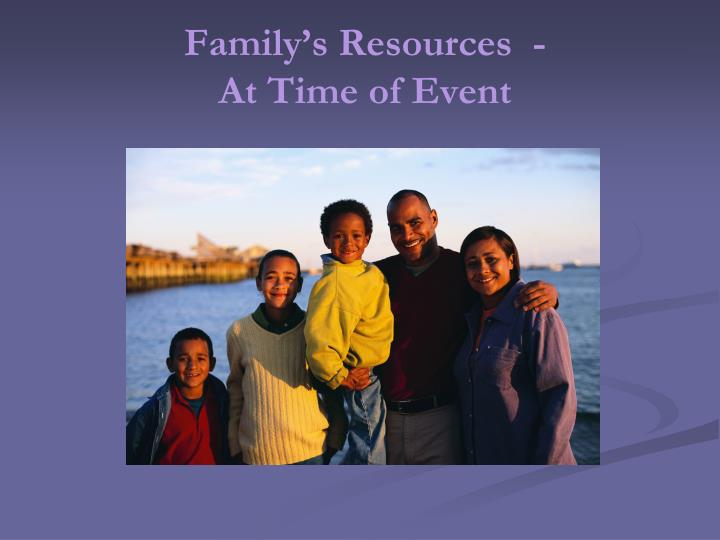Family's Resources  -