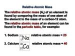 relative atomic mass1