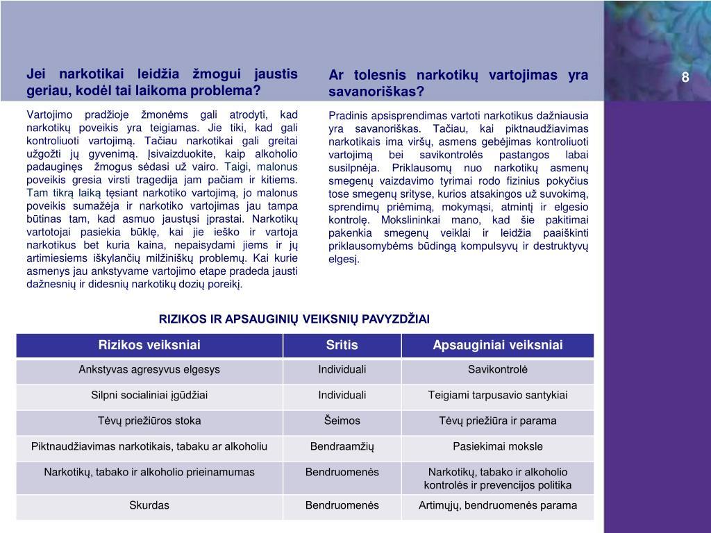 narkotikų hipertenzija gyvenimo)