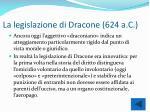 la legislazione di dracone 624 a c