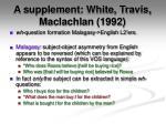 a supplement white travis maclachlan 1992