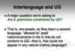 interlanguage and ug