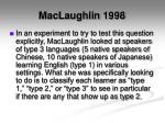 maclaughlin 1998