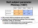 null subject parameter phinney 19872