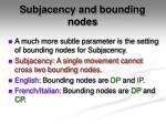 subjacency and bounding nodes