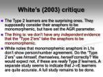 white s 2003 critique
