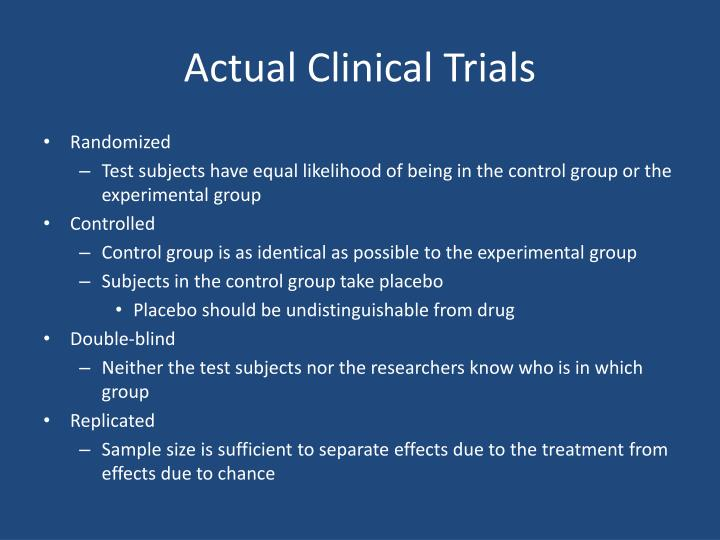 Actual Clinical Trials